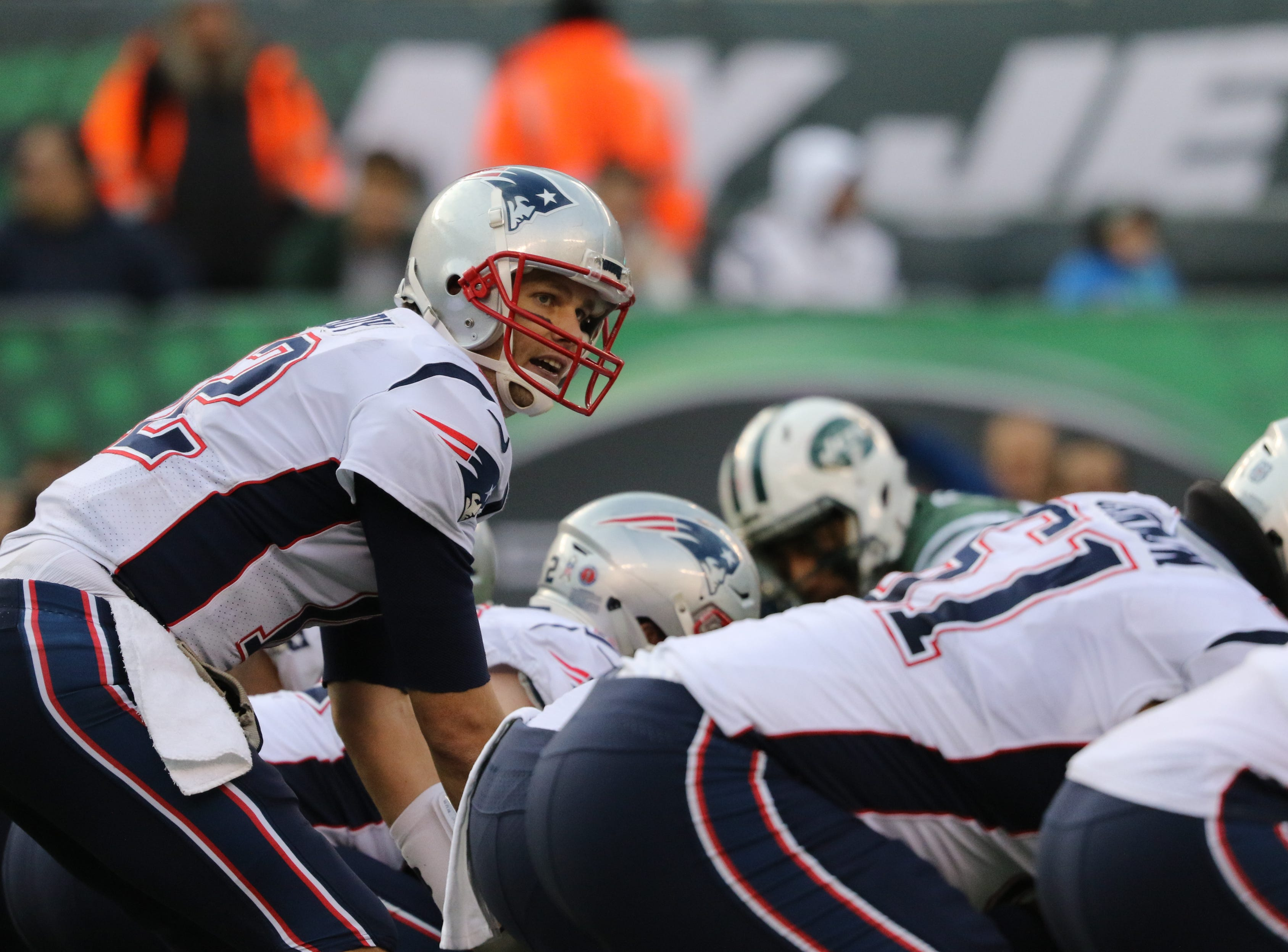 Tom Brady, of the Patriots is shown during the second half. Sunday, November 25, 2018