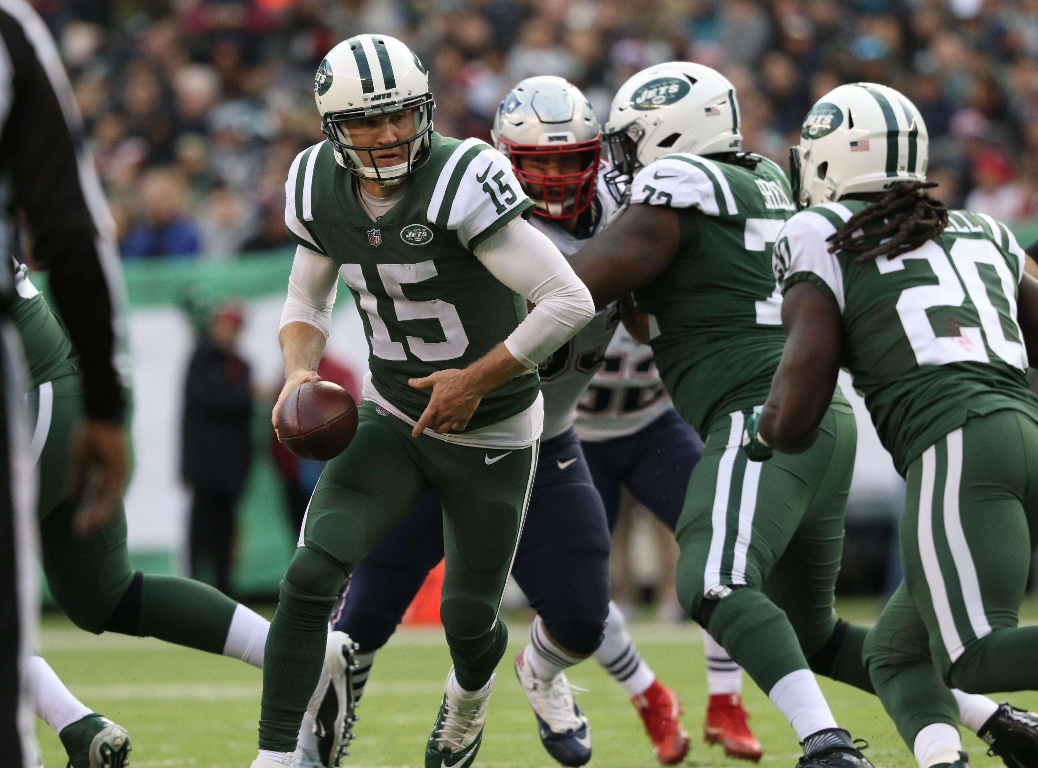 Josh McCown is shown during the second half.  Sunday, November 25, 2018