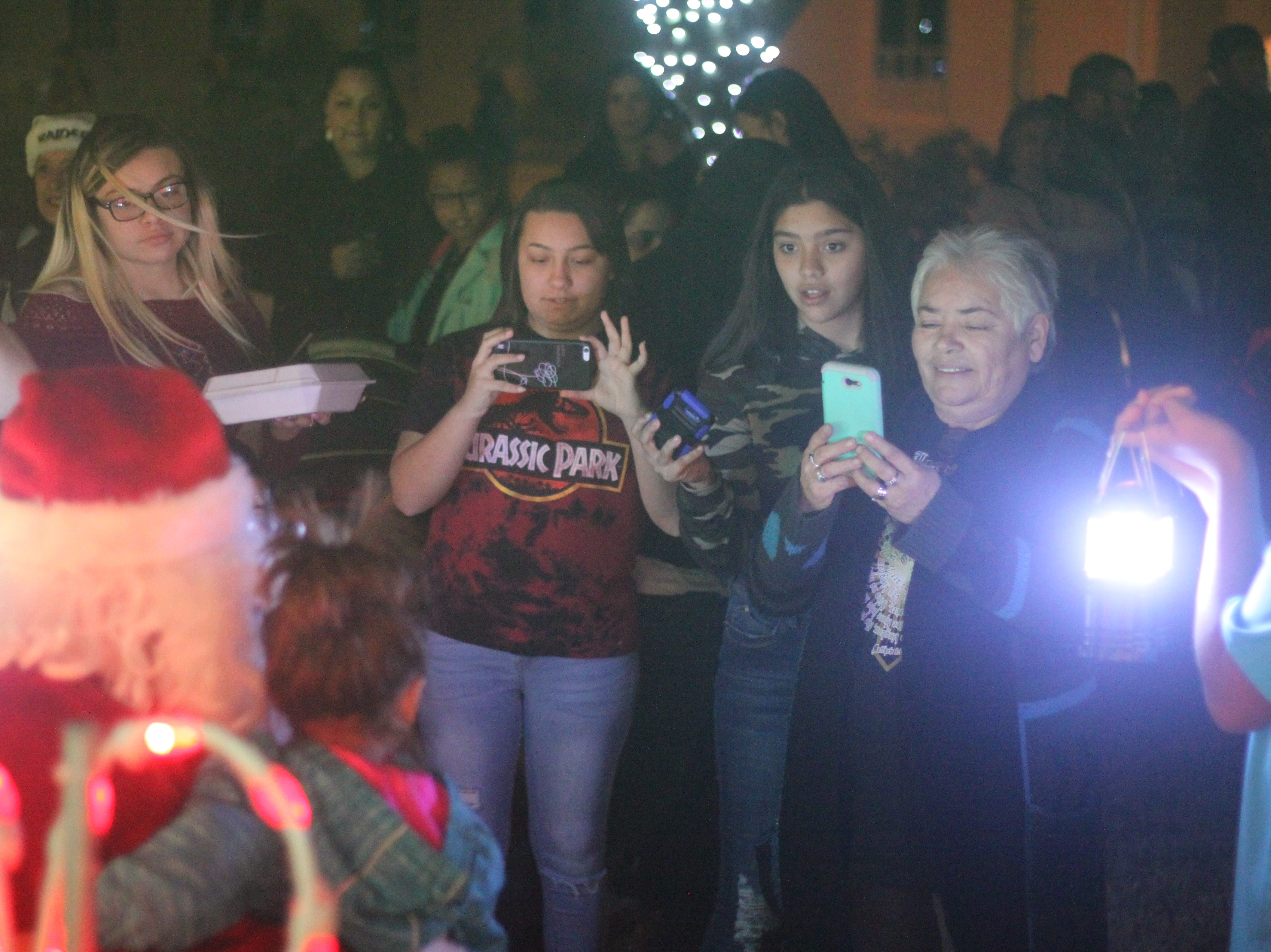 Locals ring in the holiday cheer, Nov. 24, 2018 at Halagueno Arts Park.