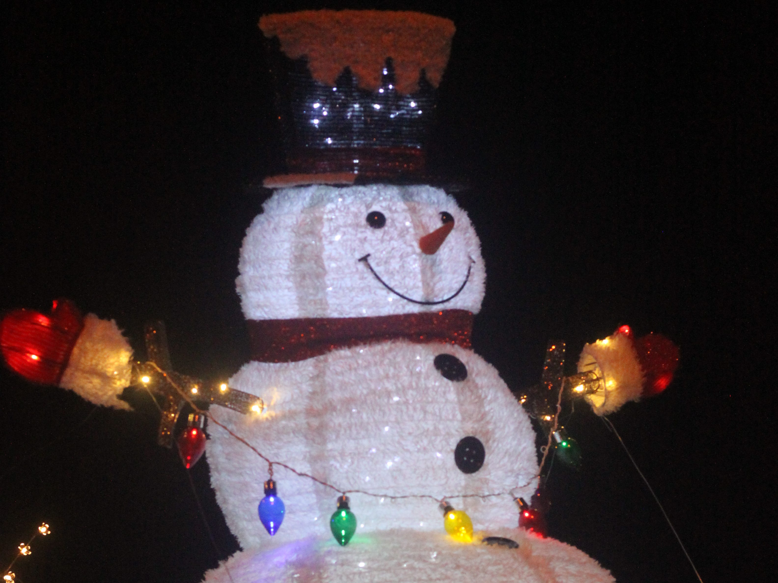 Frosty the Snowman is on a float during the Light Parade, Nov. 24, 2018 in downtown Carlsbad.