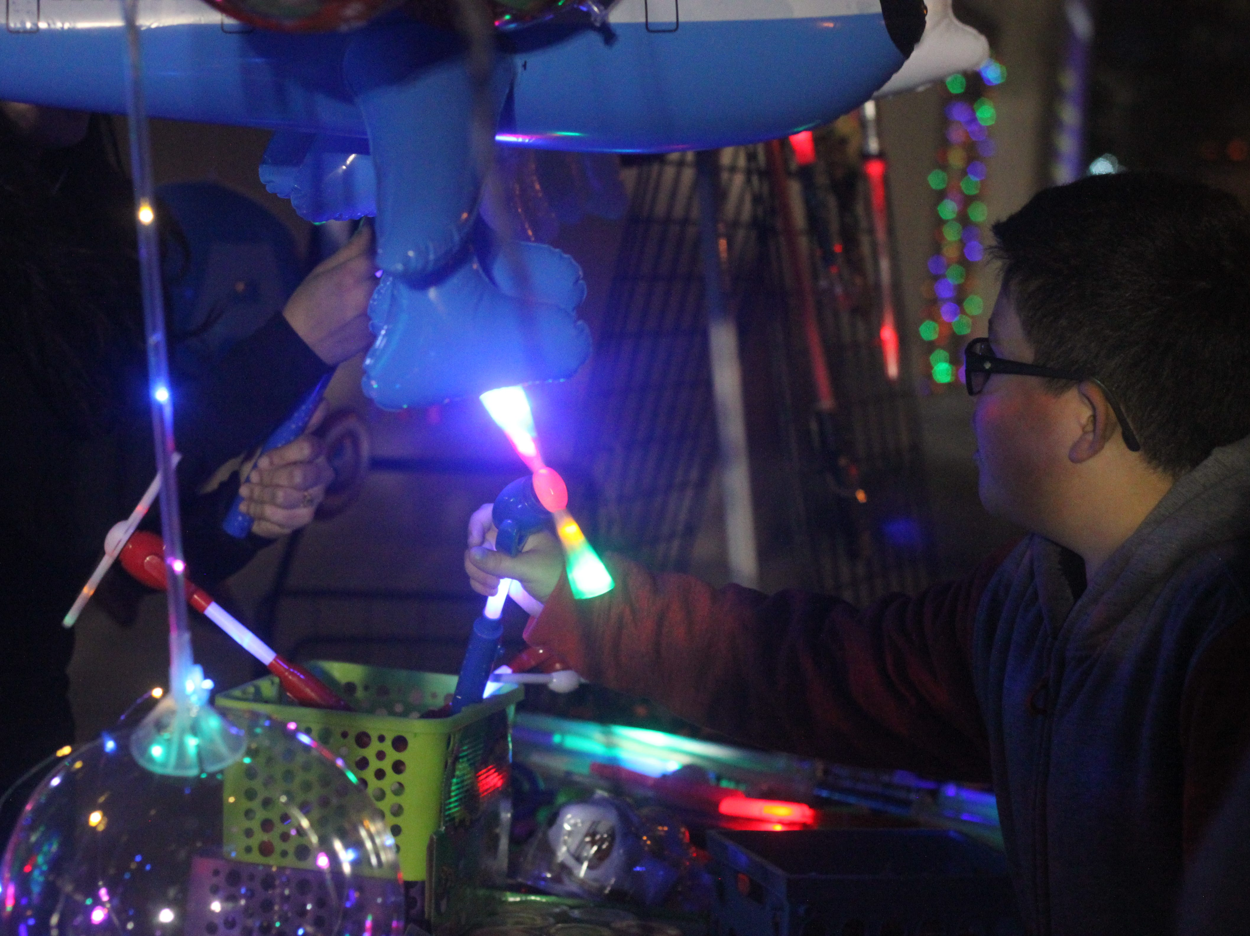 Attendees purchase toys at the annual Night of Lights event, Nov. 24, 2018 in Halagueno Arts Park.