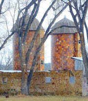The silos at the fort were restored and new roof added several years ago to prevent further deterioration.