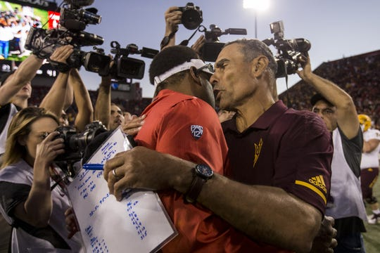 What if Kevin Sumlin's Arizona Wildcats and Herm Edwards' ASU Sun Devils don't make a bowl game this season?