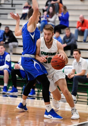 York College's Joey Polczynski, seen here in a file photo, scored 24 points in York's win over Mary Washington on Saturday.