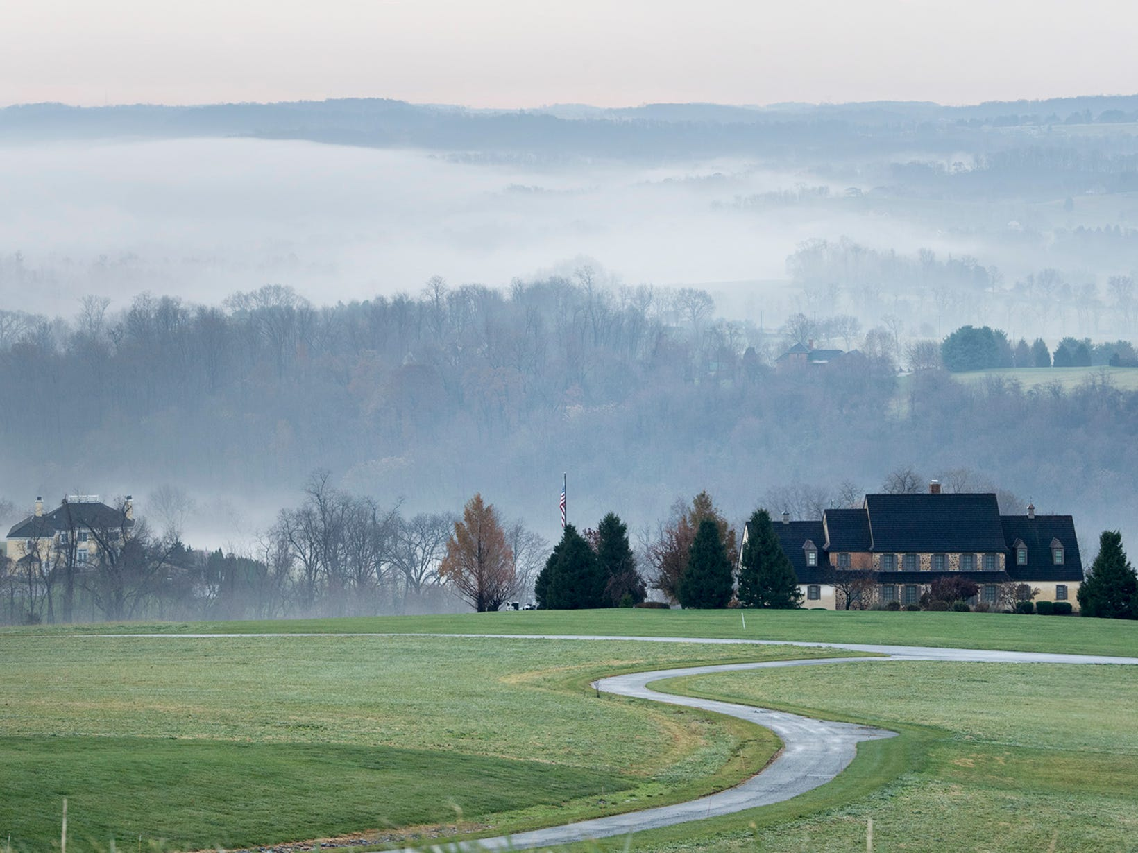 Fog blankets the Susquehanna River in a view from Highpoint Scenic Vista & Recreation Area in Lower Windsor Township on Sunday November 25, 2018.