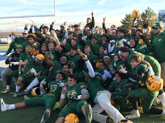 Bishop Manogue beat Arbor View, 42-34, in a state semifinal playoff football game on Saturday at McQueen.