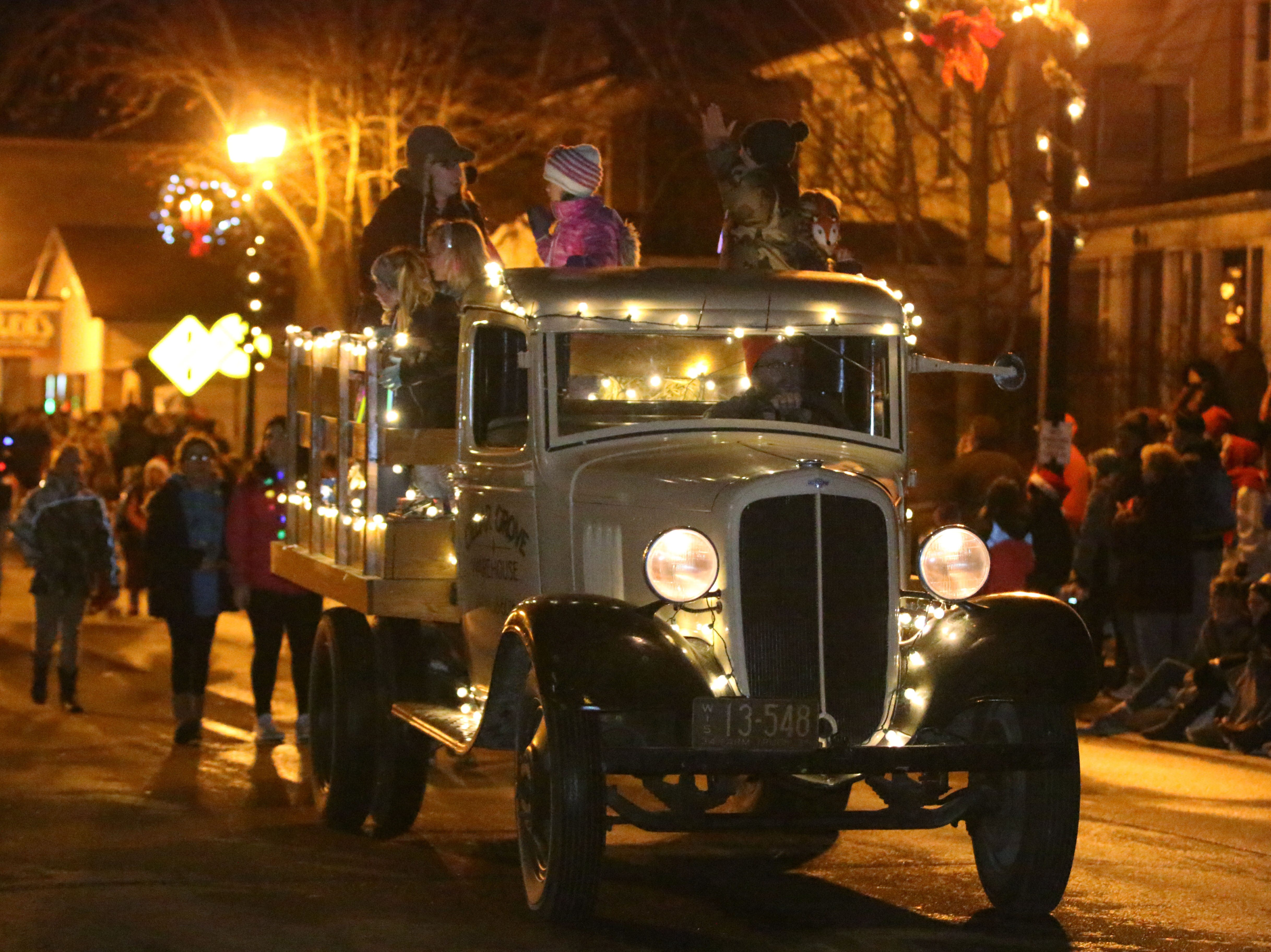 A scene from the Oostburg Christmas Parade, Saturday, November 24, 2018, in Oostburg, Wis.