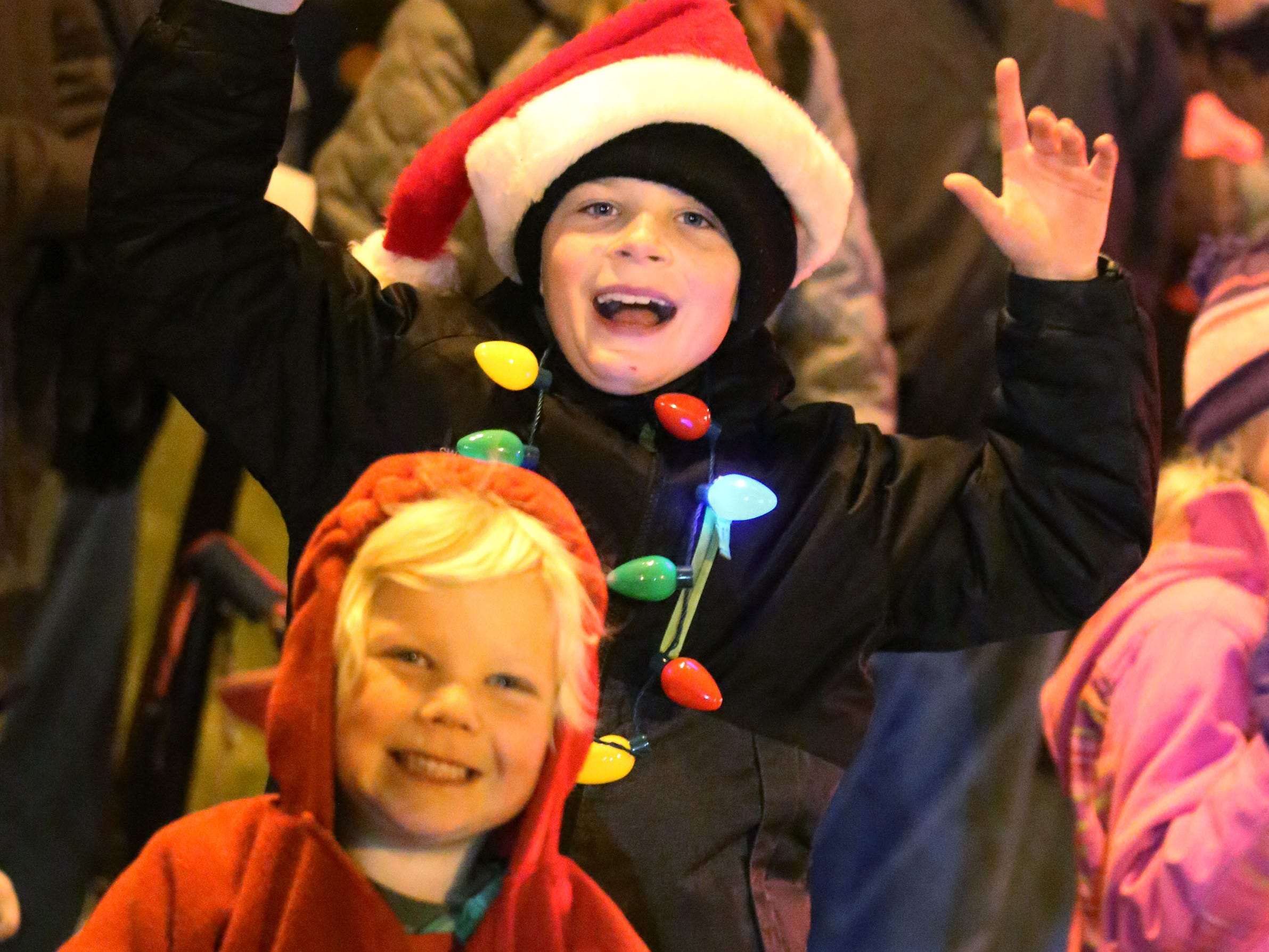 Children had plenty of smiles at the Oostburg Christmas Parade, Saturday, November 24, 2018, in Oostburg, Wis.