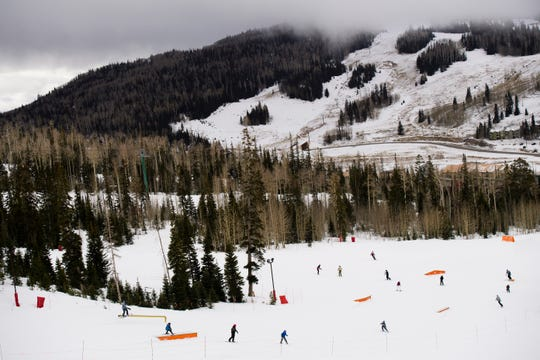 Guests participate in winter sports at Brian Head Resort Saturday, November 24, 2018. The resort is opening ski lifts over time, as weather allows.