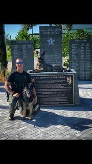 Deputy Ryan Holly and his K9 partner Ruckus