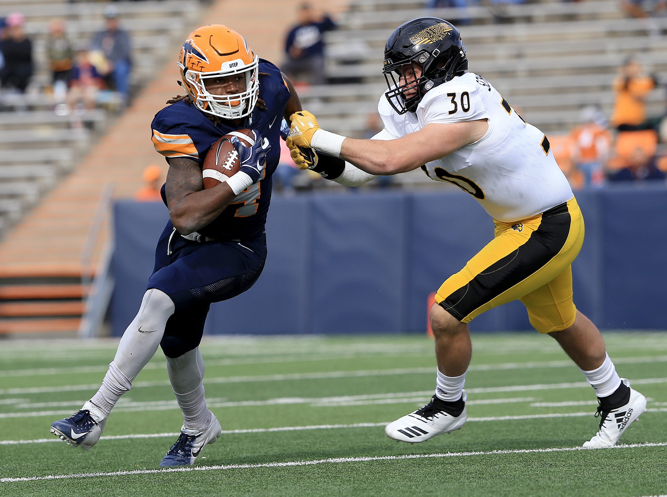 UTEP ended their season with a 39-7 loss to Southern Miss at the Sun Bowl. UTEP seniors were joined by their families on the field prior to the game and were treated to a senior video following the game.
