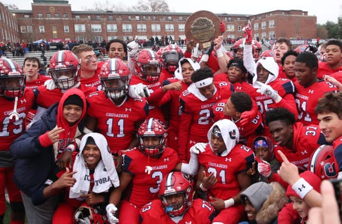 Archbishop Stepinac defeated Saint Francis 49-7 to win the CHSAA state  football championship at Stepinac High School in White Plains Nov. 24, 2018.