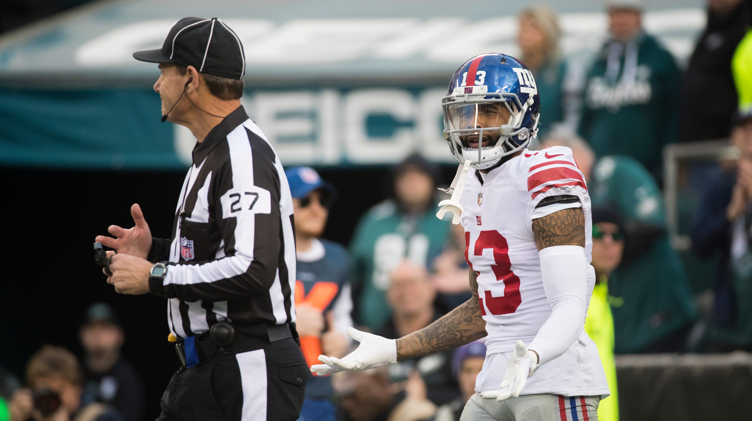 45df7bf47 Eagles' 2nd-half leaves Giants' Odell Beckham fuming; can that blueprint  continue?