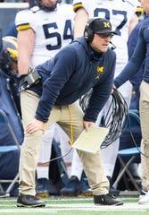 Michigan Wolverines head coach Jim Harbaugh.