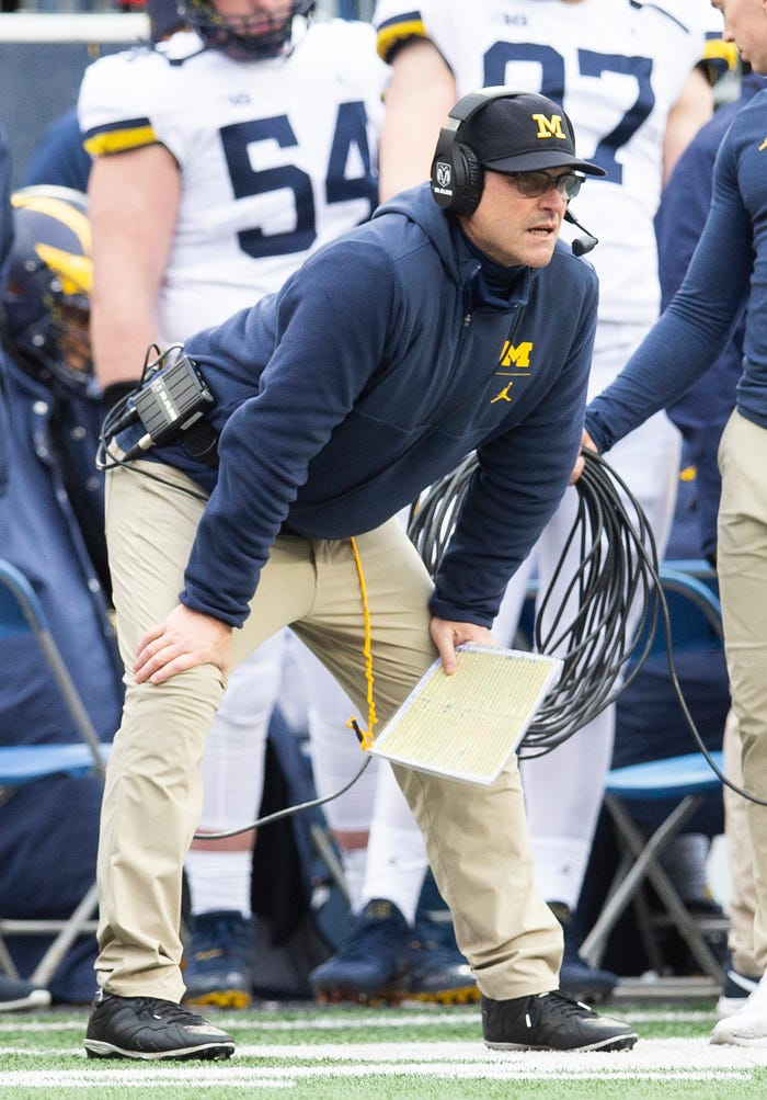 Michigan coach Jim Harbaugh discusses coronavirus in interview, then shifts conversation to abortion