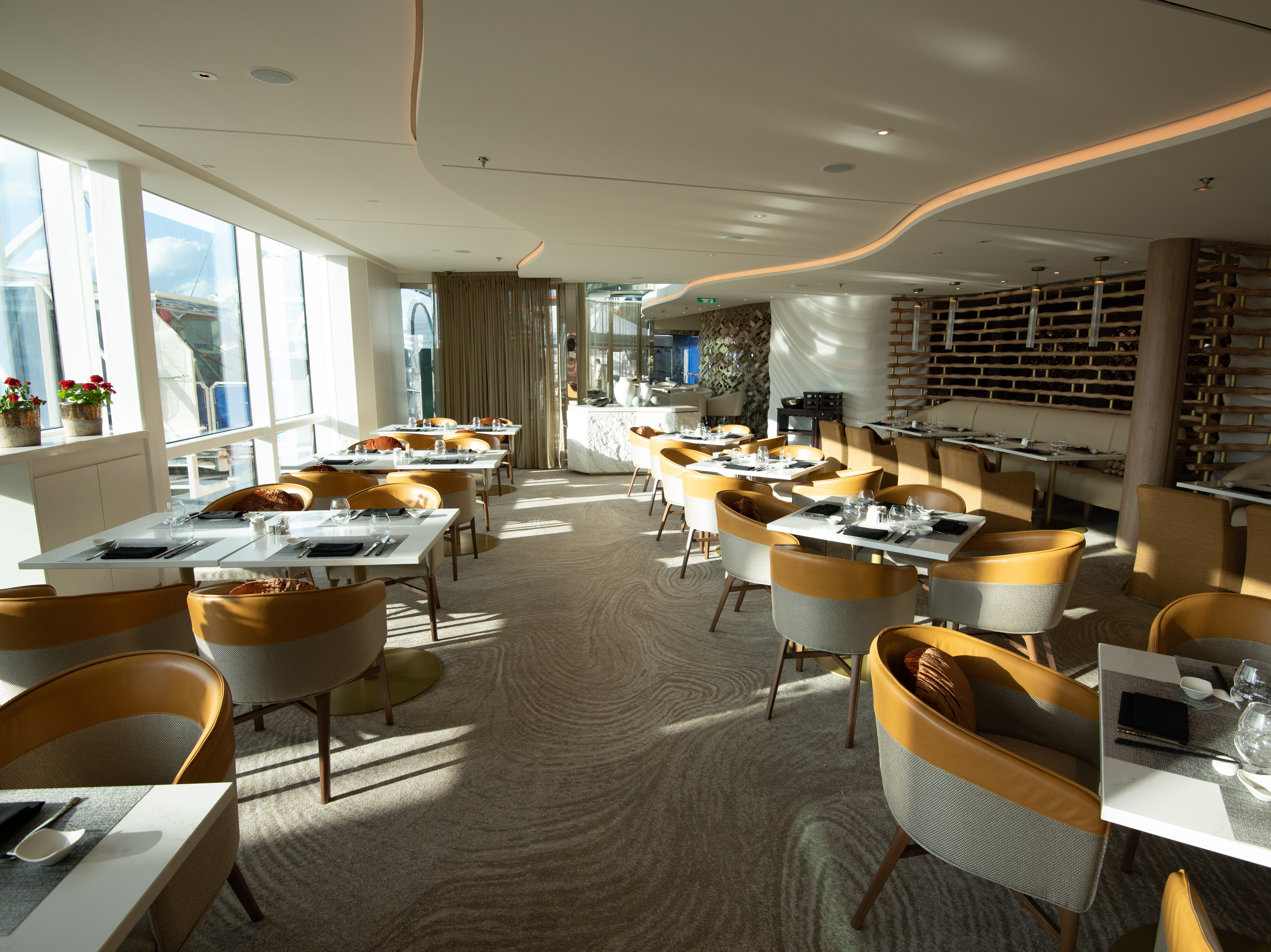 Located on Deck 5, Raw on 5 seats 60 people and is priced a la carte.