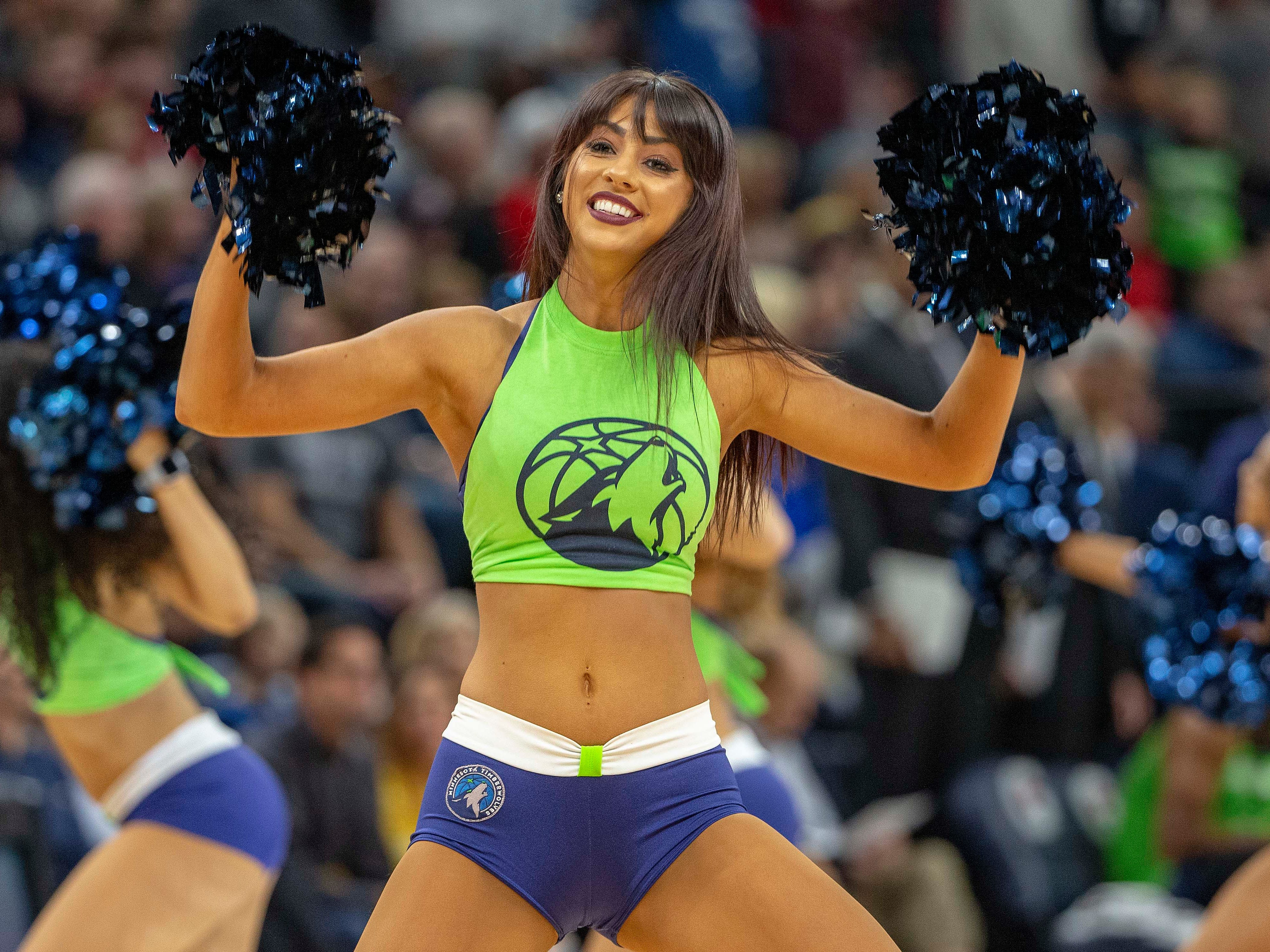 Nov. 24: Timberwolves dancers perform during a break in the action against the Bulls at Target Center.