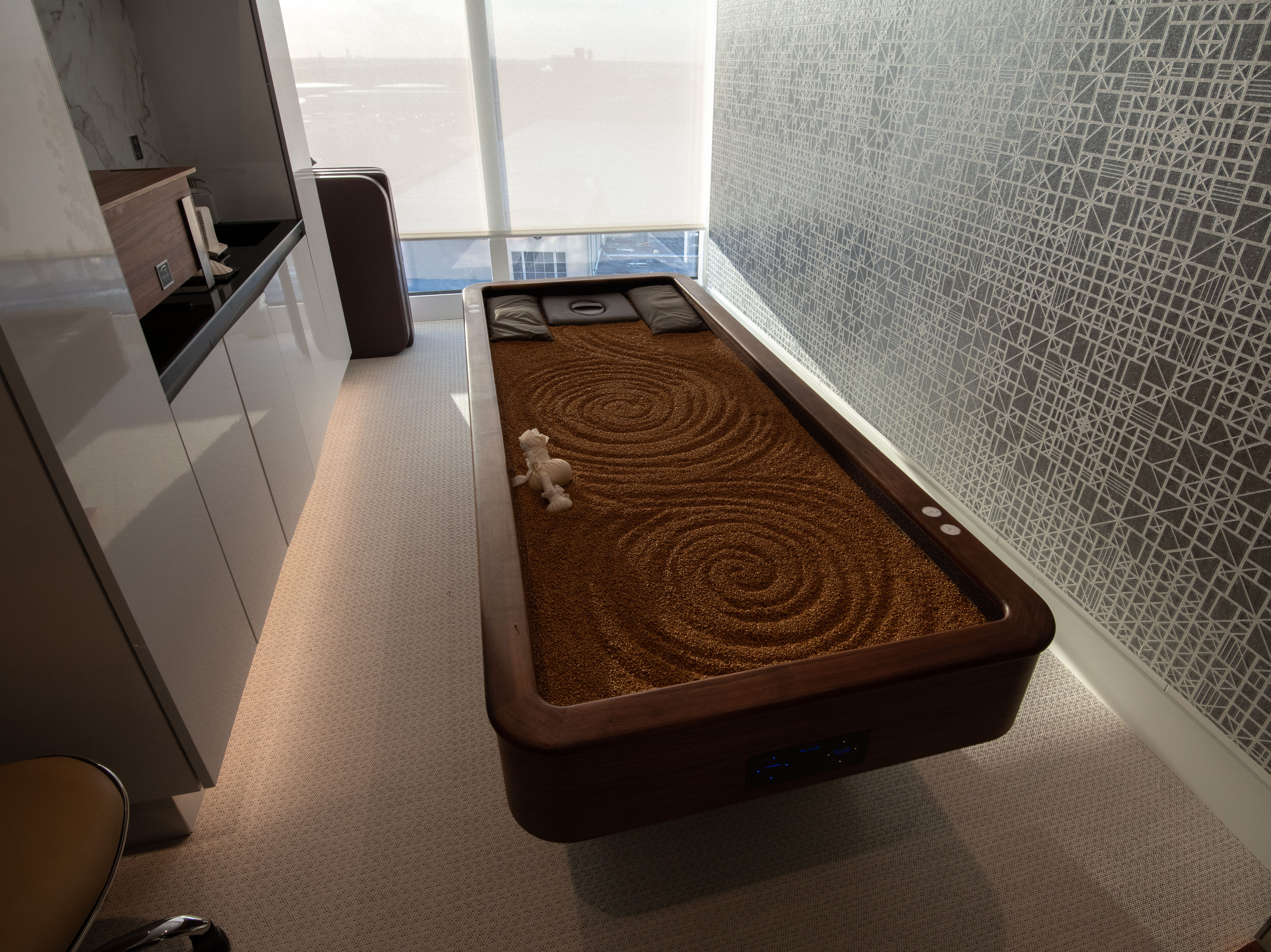 The Spa on Celebrity Edge has 23 treatment rooms, including the first  MLX Quartz table in the Celebrity fleet.