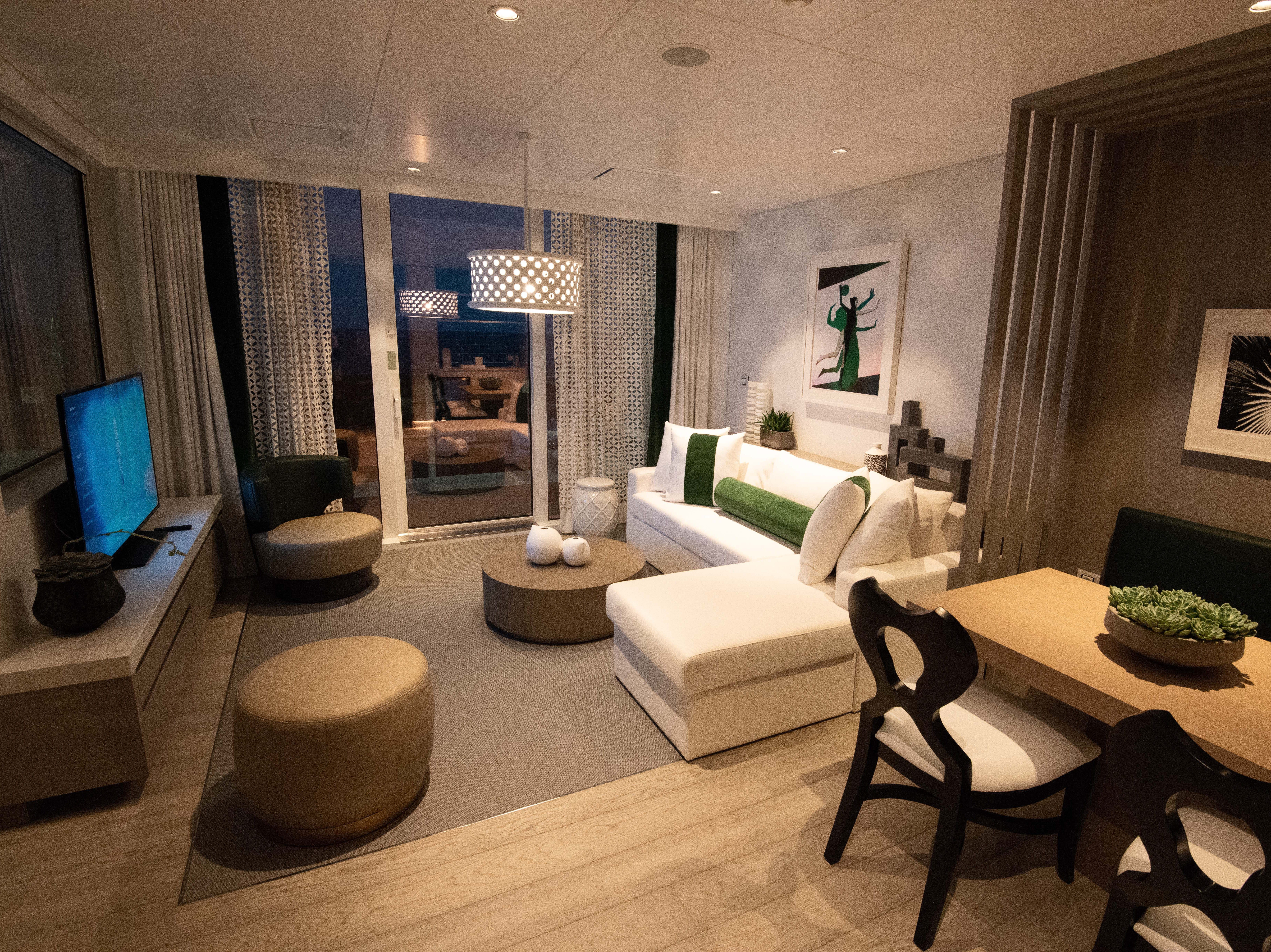 Another category of giant suites available on Celebrity Edge is its Edge Villas. They are the first two-story-high suites on a Celebrity Cruises ship.