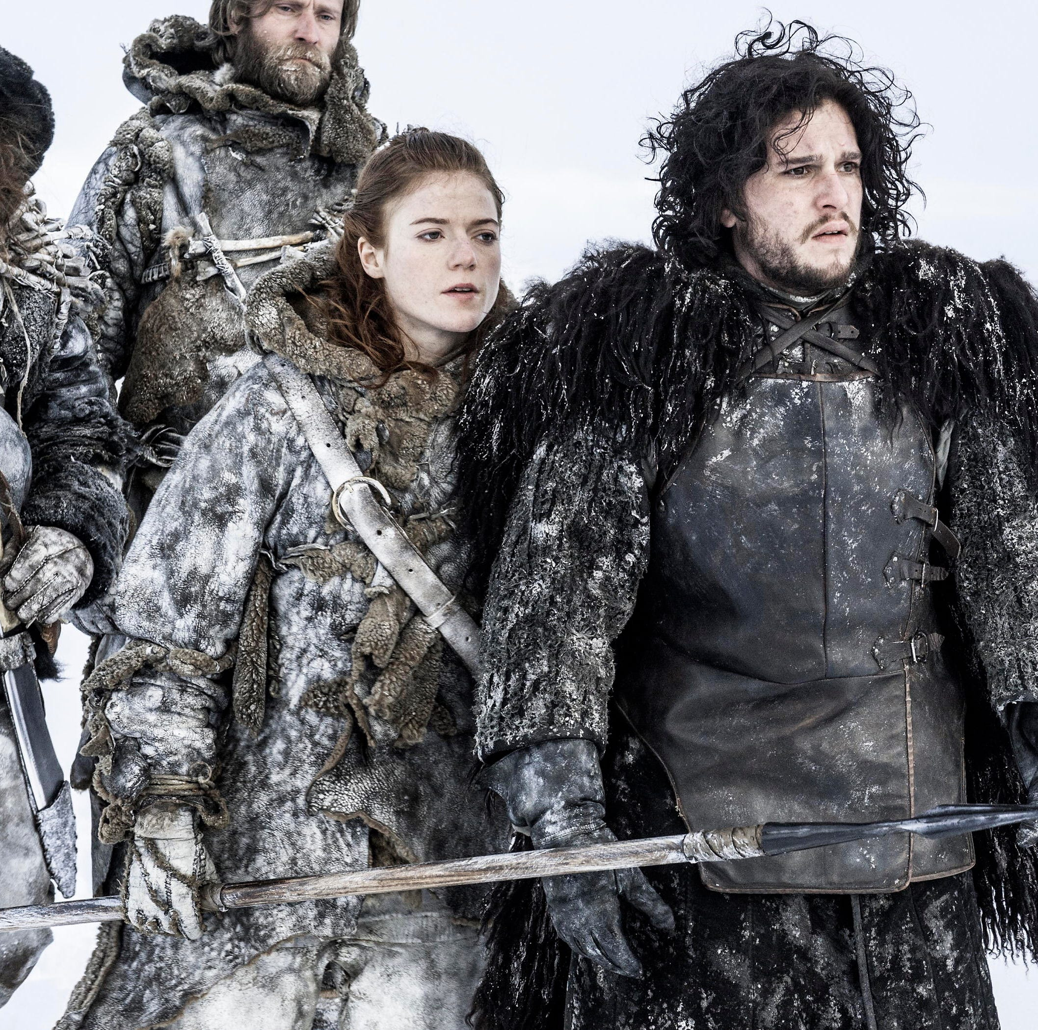 """Kit Harington and Rose Leslie in """"Game of Thrones."""""""