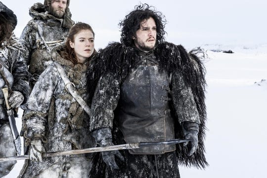 "Kit Harington and Rose Leslie in ""Game of Thrones."""