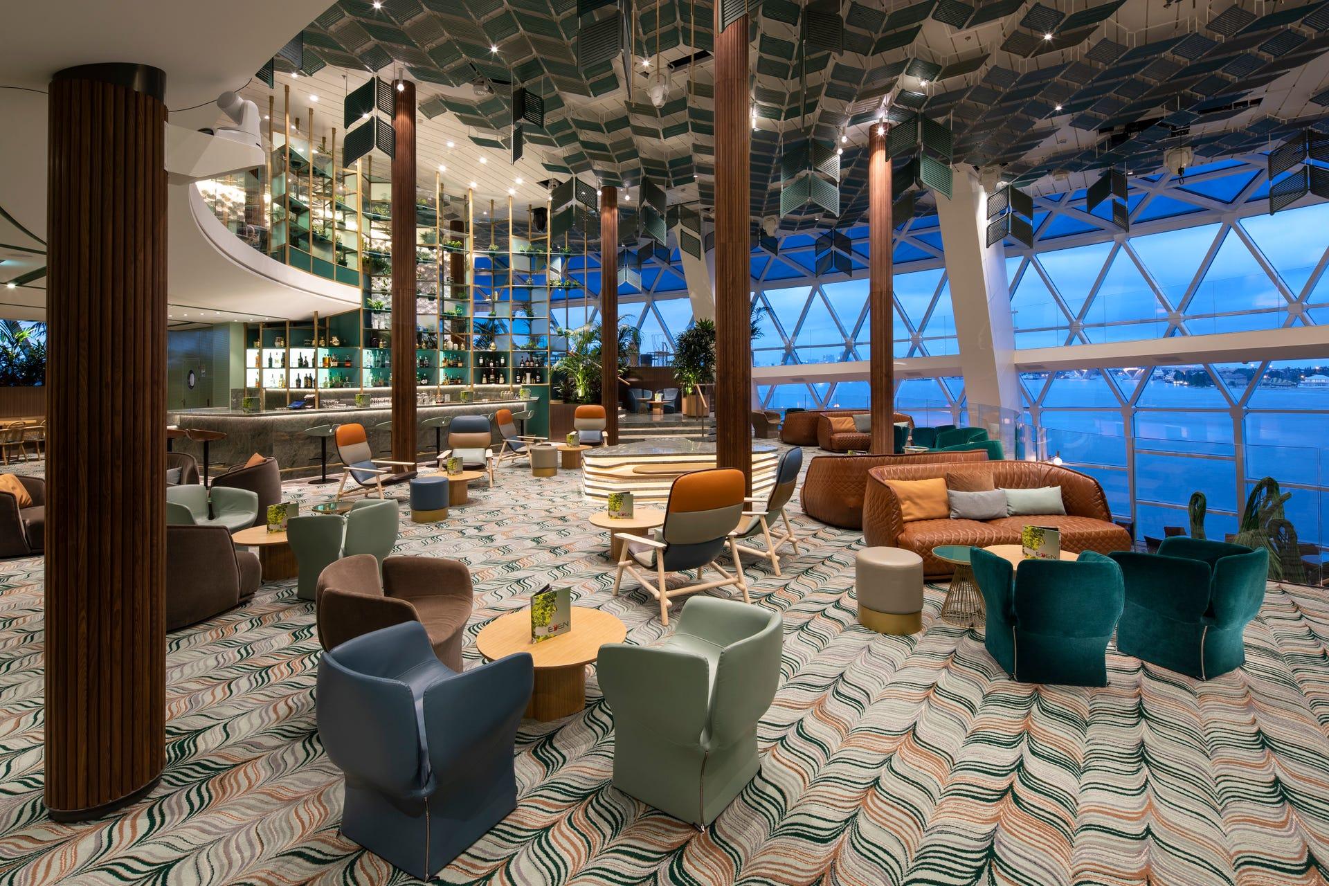 Eden on Celebrity Edge: Innovative new cruise ship venue in photos