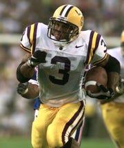 LSU running back Kevin Faulk heads up field against Florida Saturday night Oct. 11, 1997 in Baton Rogue, La.