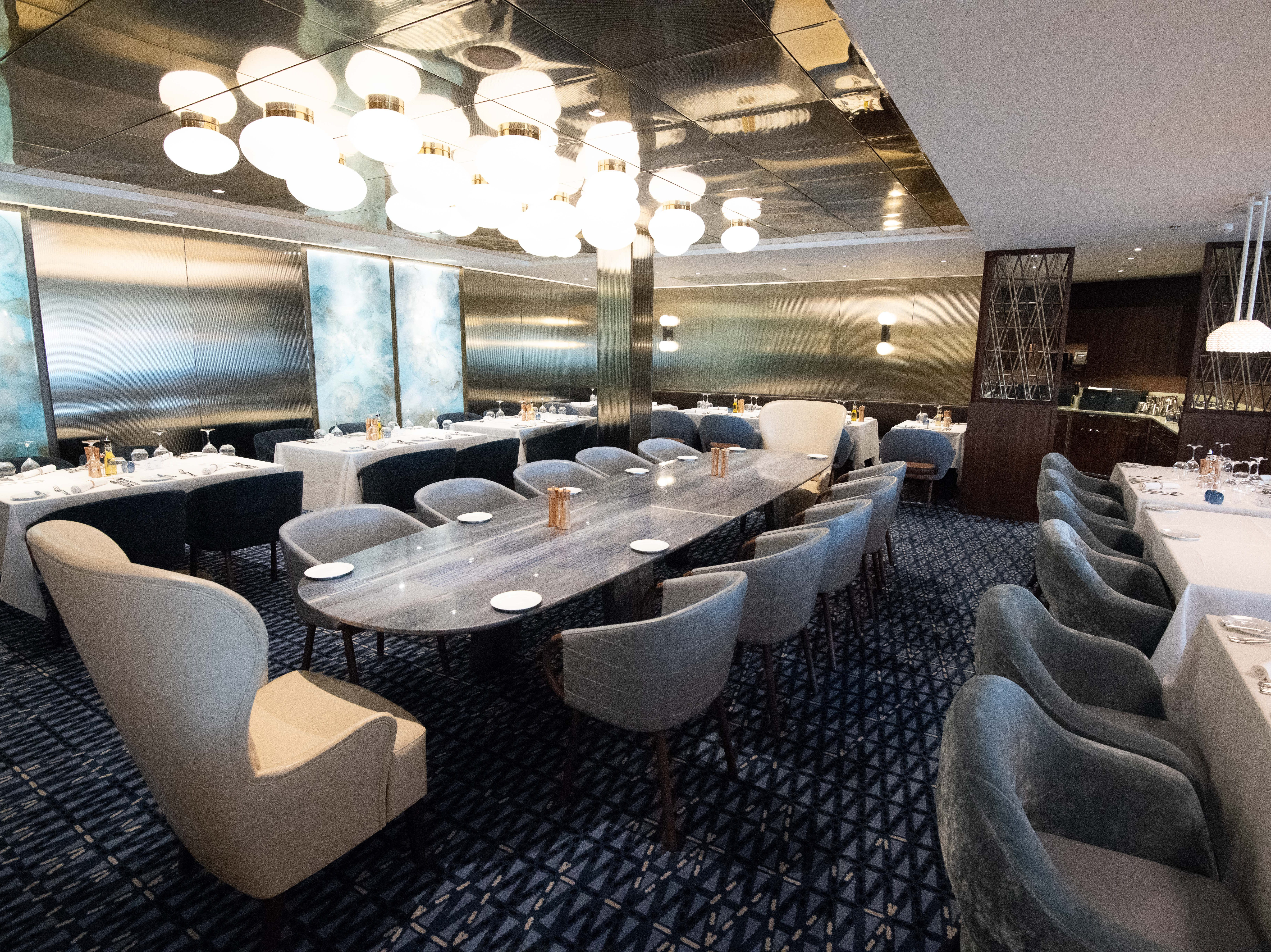 Celebrity Edge's four main included-in-the-fare dining venues include Cypress Restaurant, which serves Mediterranean fare and is a nod to Celebrity's Greek heritage.