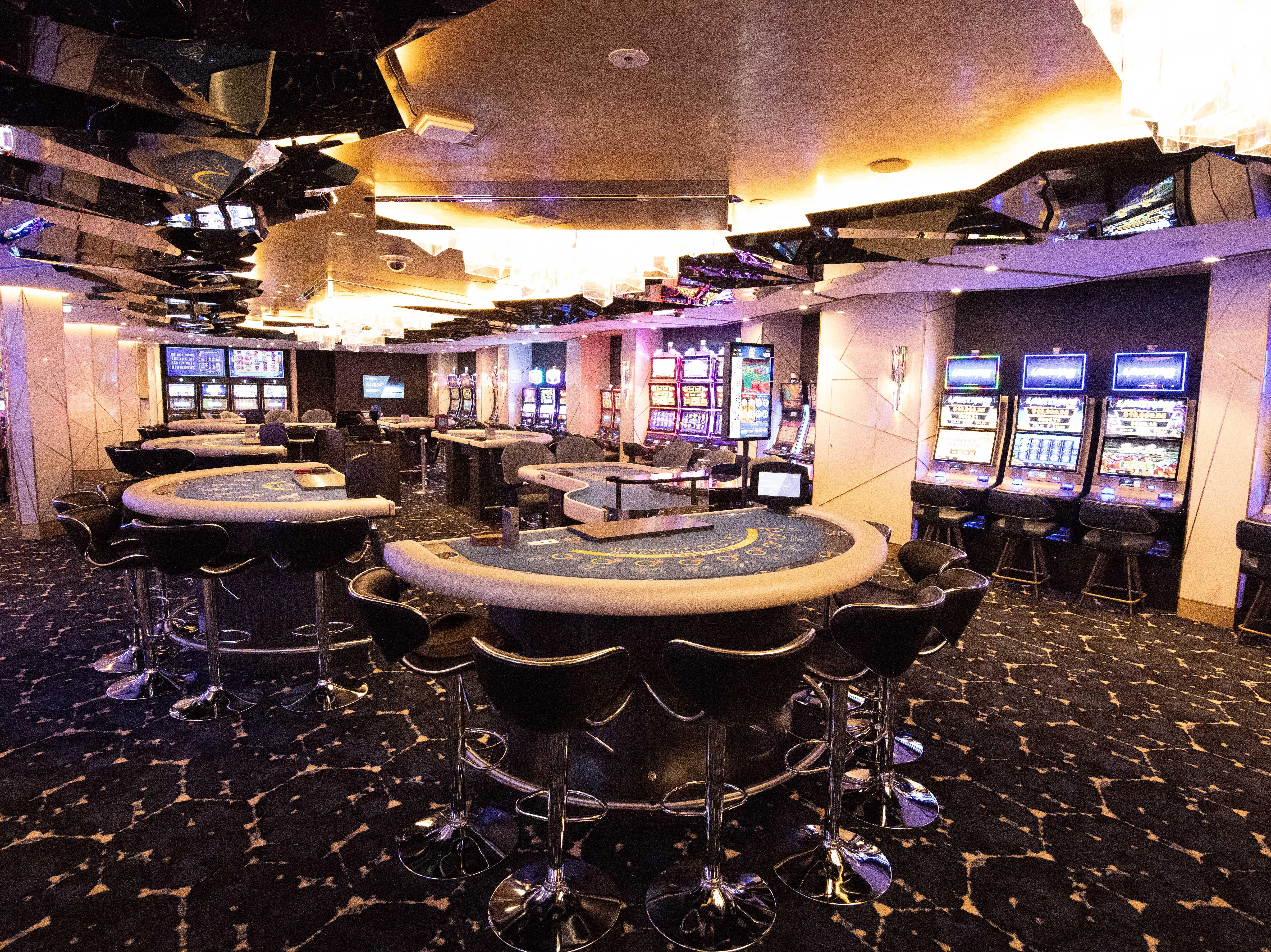 The casino on Celebrity Edge.