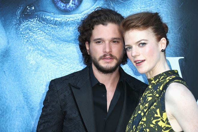 "According to reports, former ""Game of Thrones"" stars Kit Harington and Rose Leslie have welcomed their first child together, a baby boy."