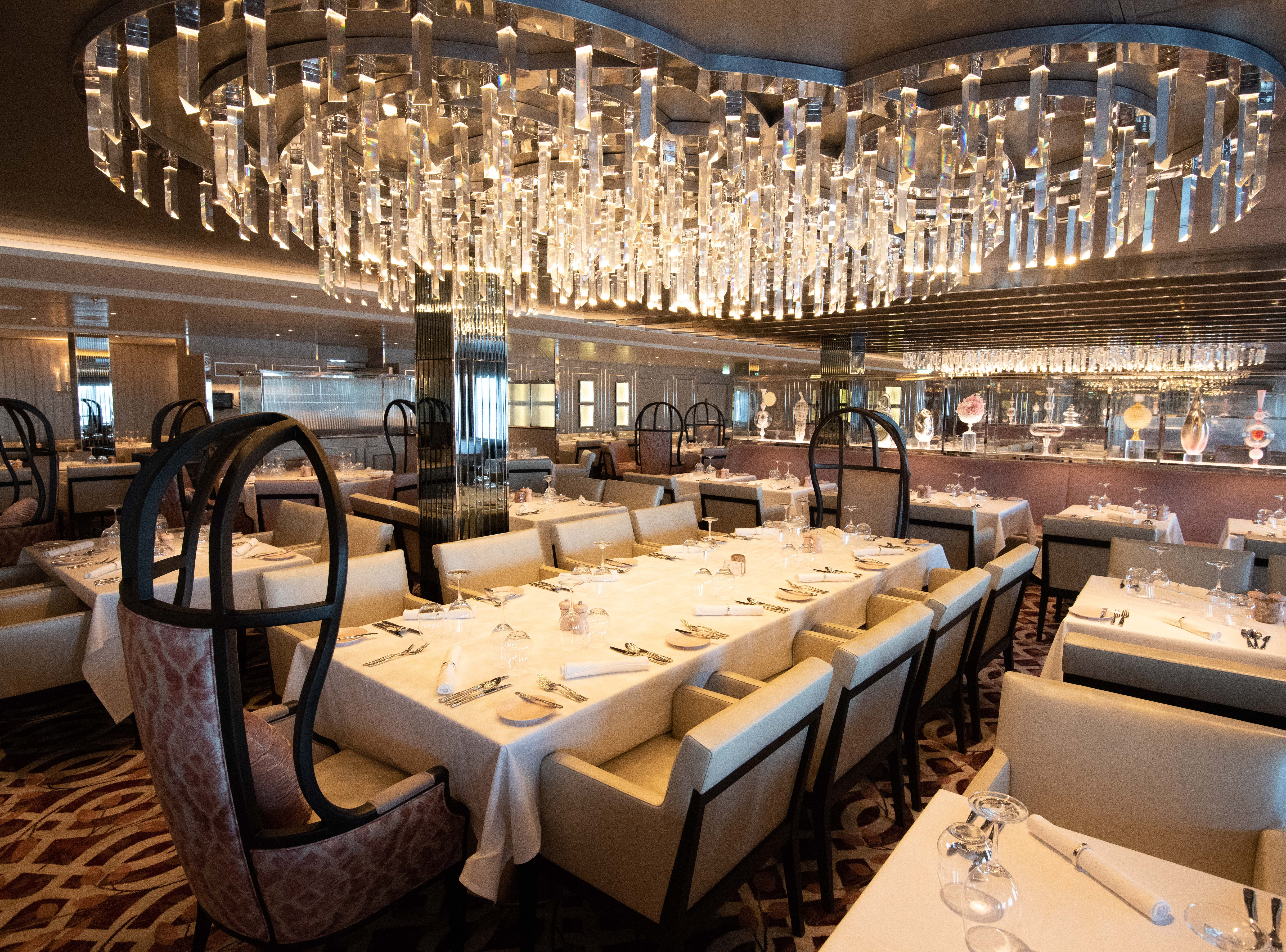 Located on Deck 3, Normandie Restaurant is one of the ship's four main dining venues.