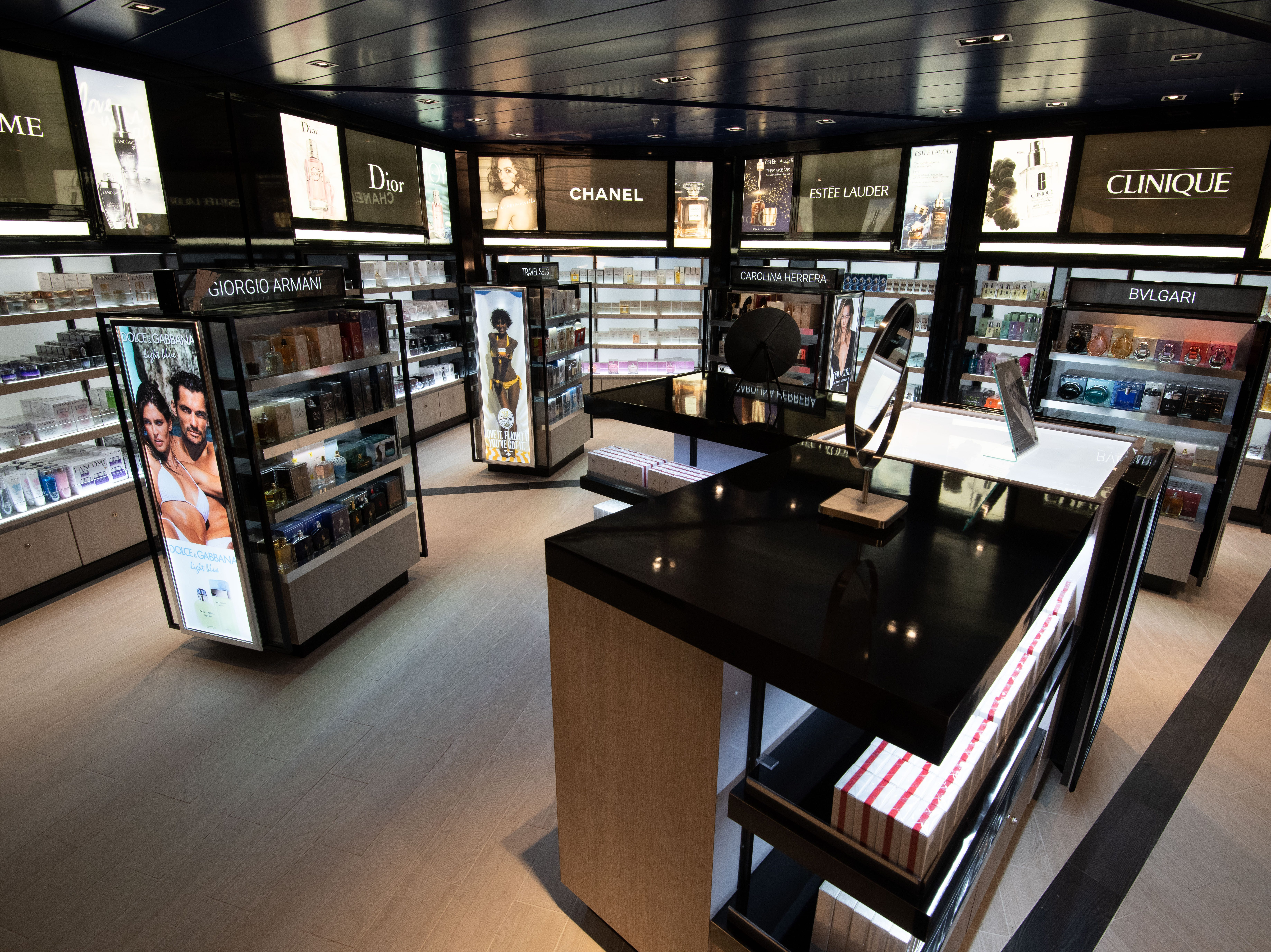 Chanel, Clinique and Estee Lauder are among the brands available in the shops on Celebrity Edge.