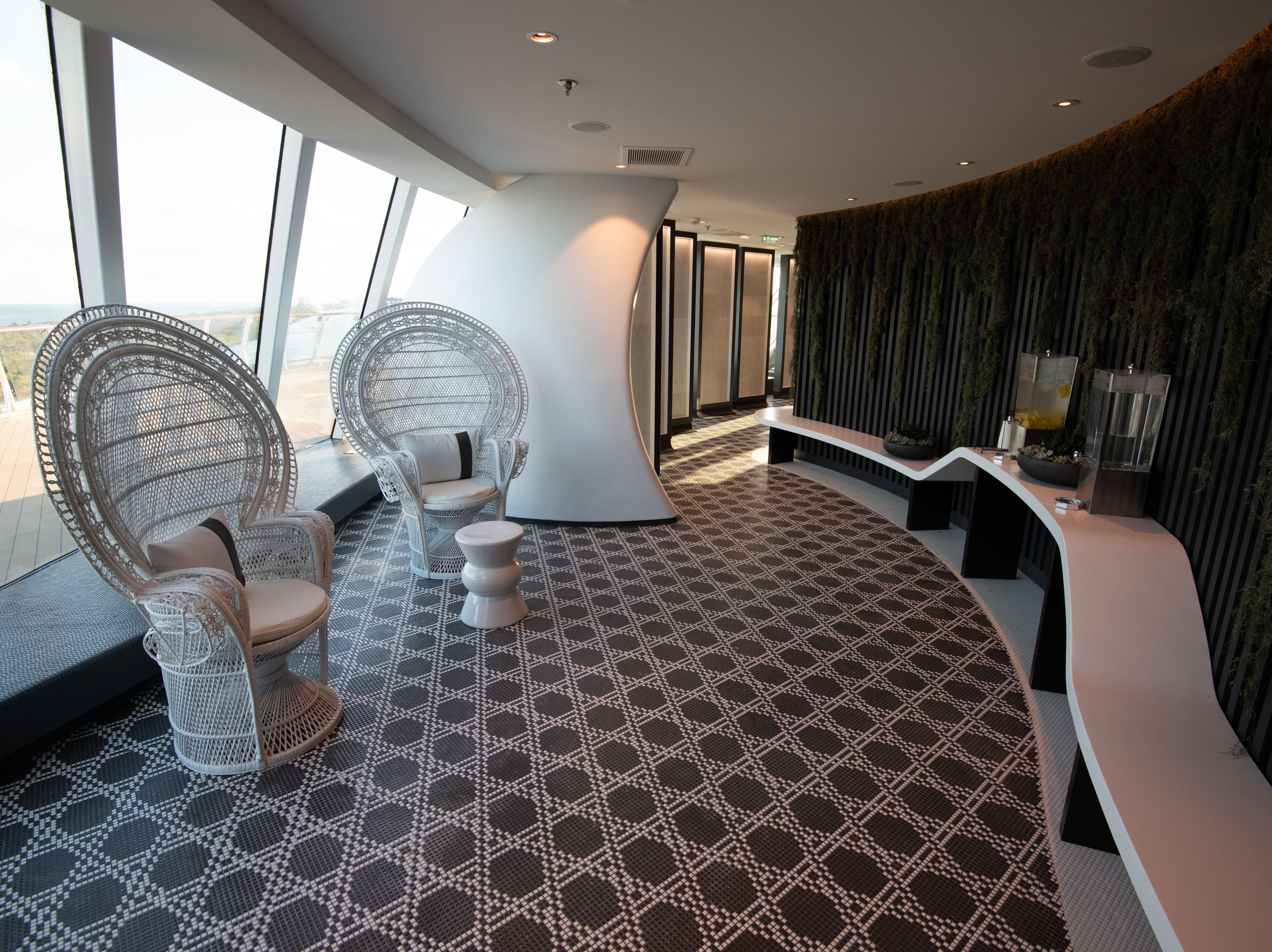 Celebrity Edge's spa is home to a sprawling thermal suite with eight distinctive therapeutic experiences.