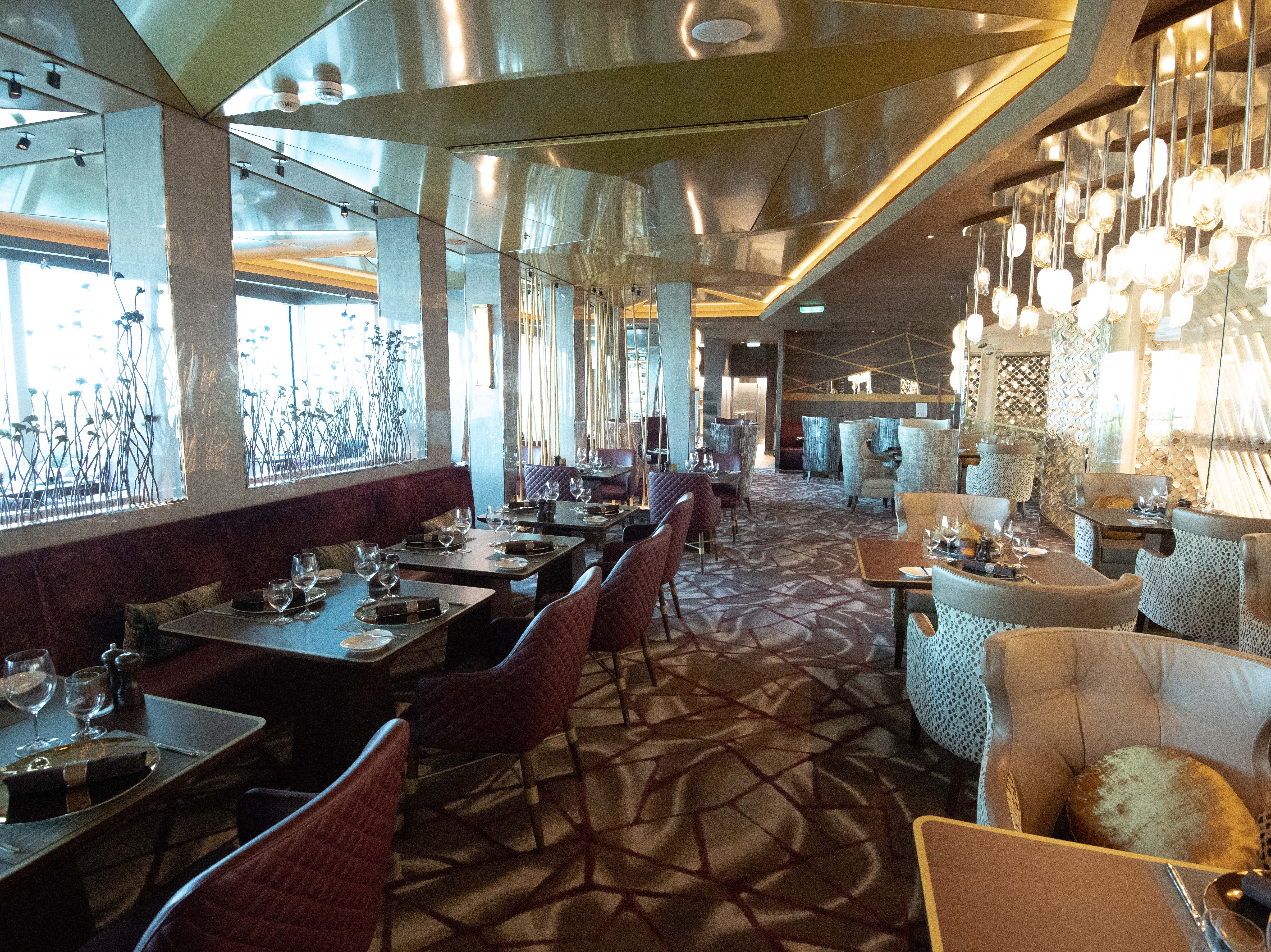 Also located on Deck 5 overlooking The Grand Plaza is Fine Cut Steakhouse, a new-for-Celebrity venue.