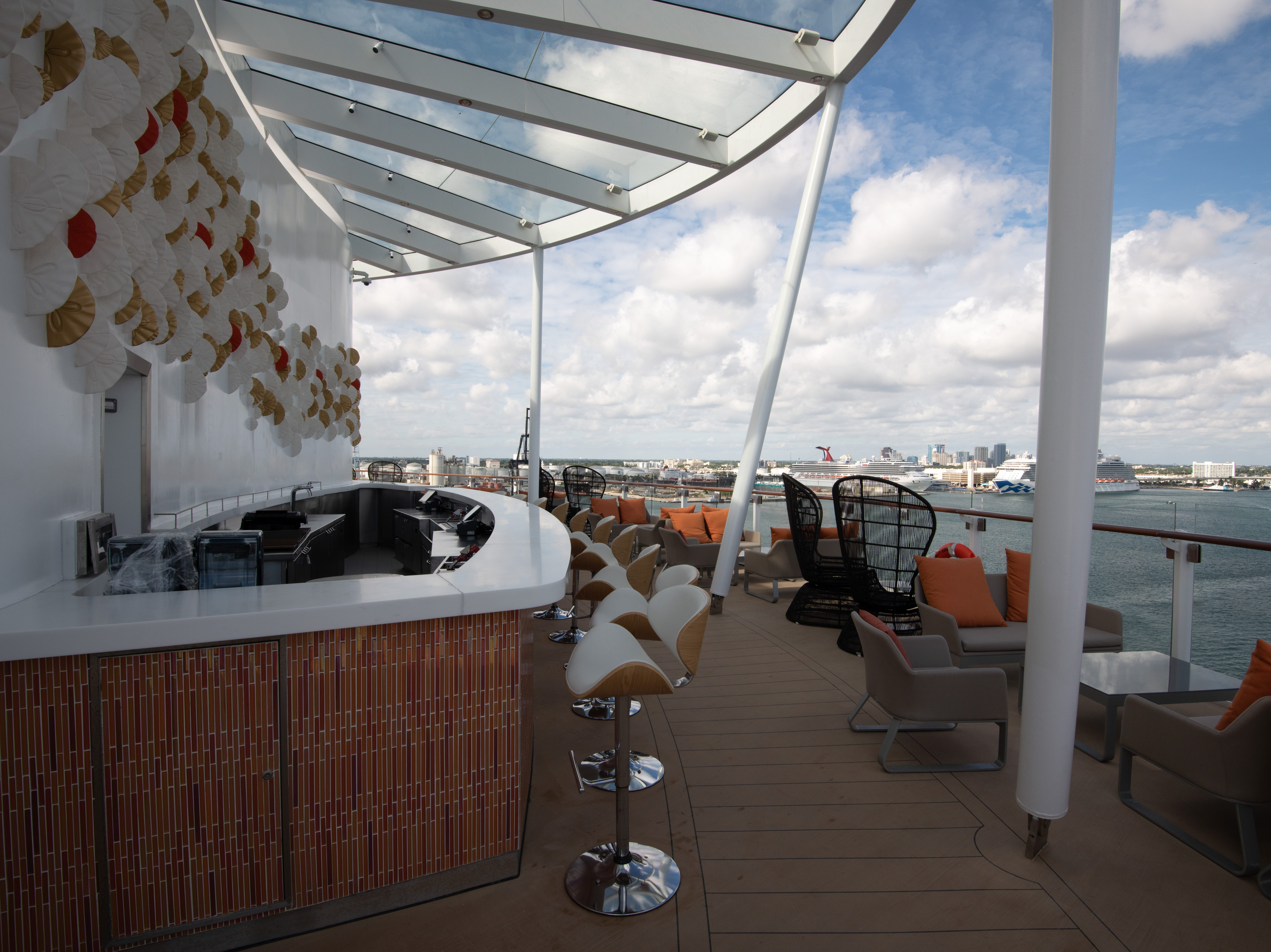 Like other Celebrity ships, Celebrity Edge features a Sunset Bar overlooking the back of the vessel.