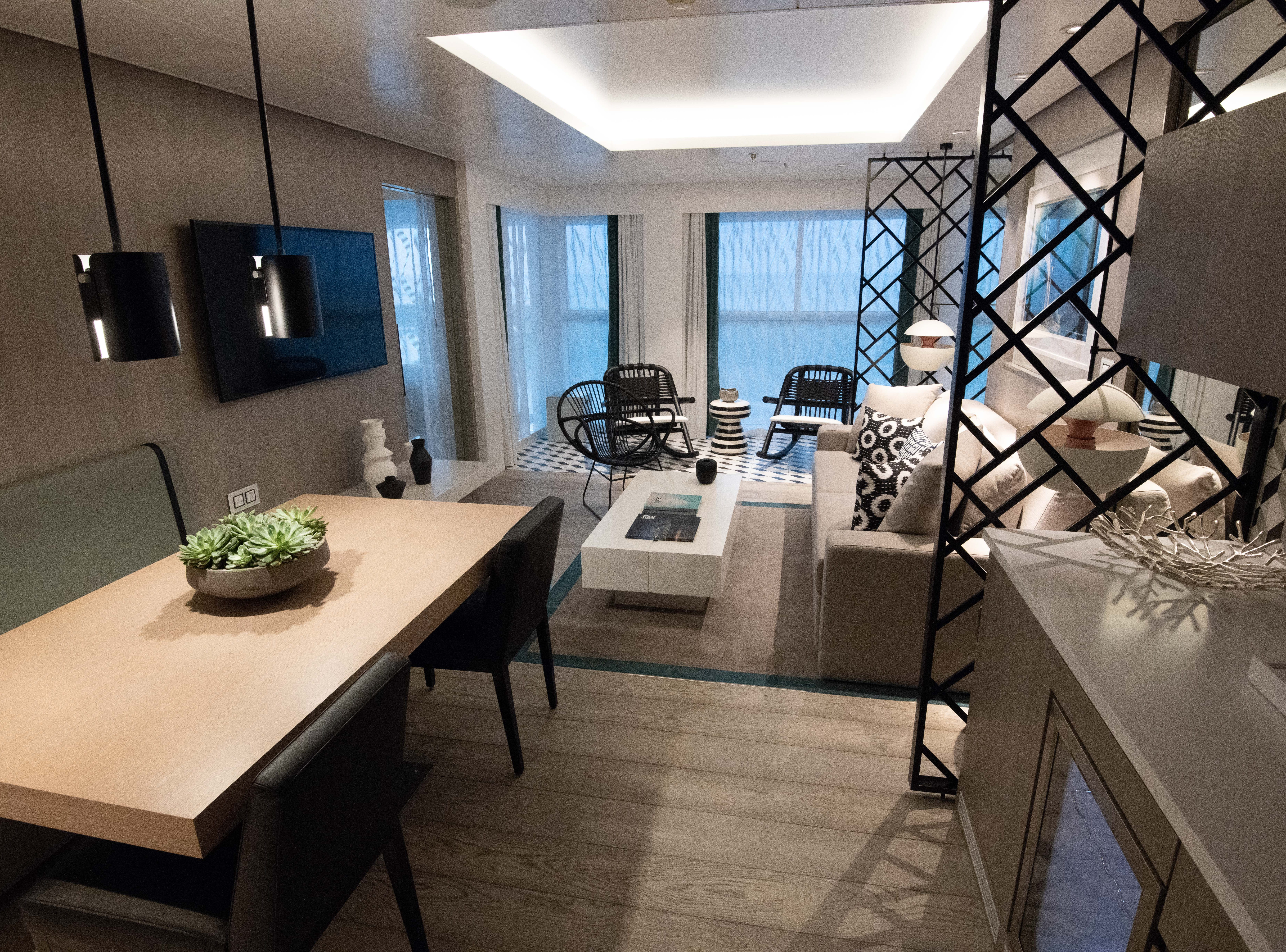 Another set of large suites on Celebrity Edge is its four Royal Suites. Each measures 687 square feet.