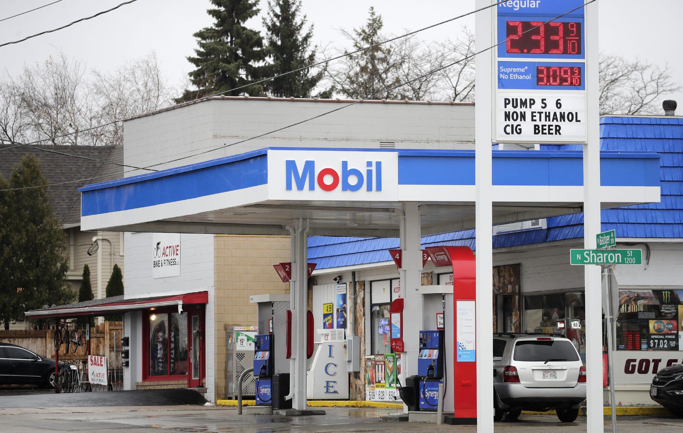 The Mobil gas station at 1201 North Badger Avenue Saturday, Nov. 24, 2018, in Appleton.