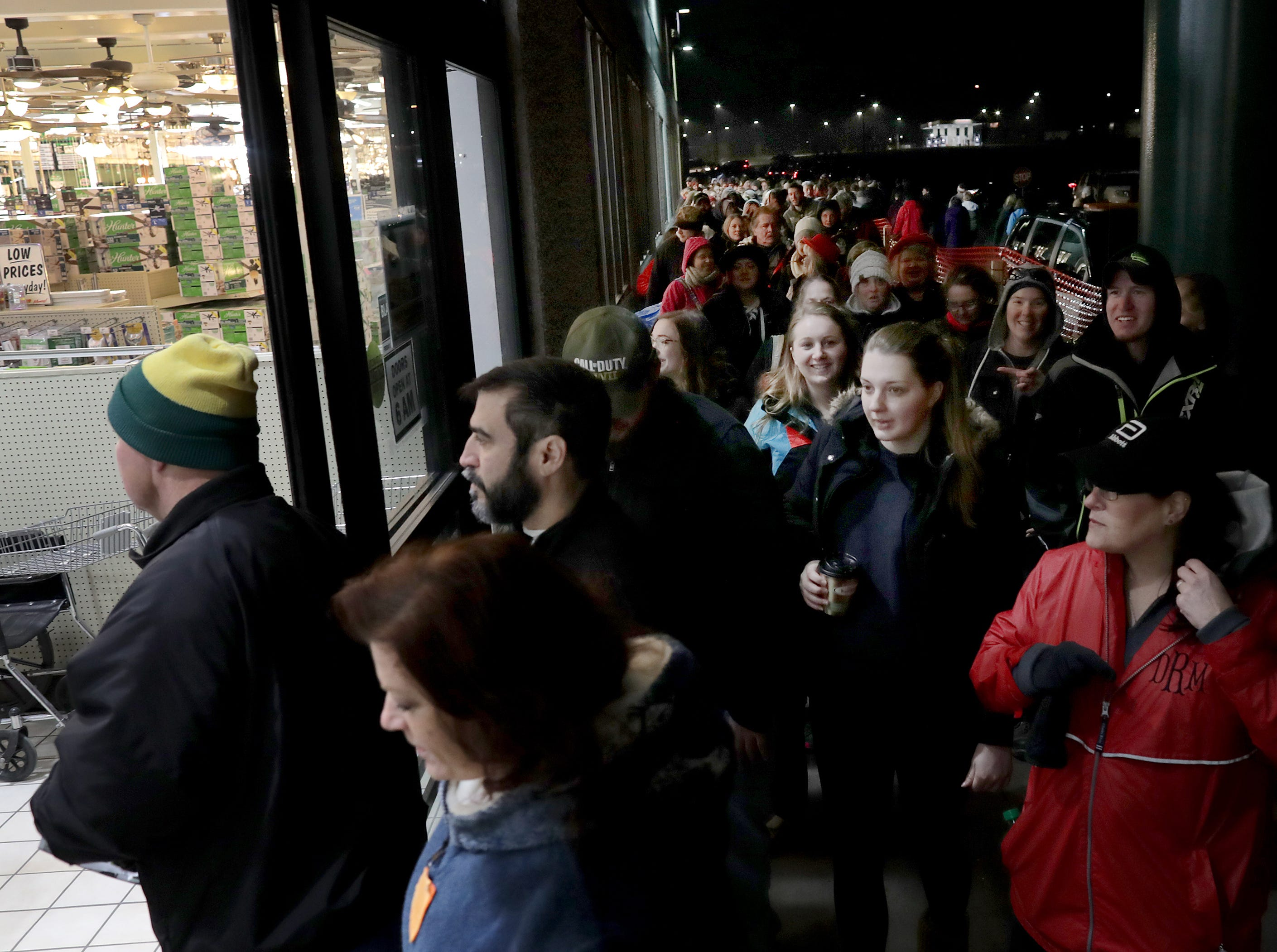 Shoppers looking for Black Friday deals stream through the doors at Menards on Friday, Nov. 23, 2018 in Grand Chute, WisWm. Glasheen/USA TODAY NETWORK-Wisconsin.