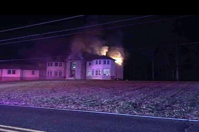 There were no injuries when a house caught fire in Wall Friday evening.