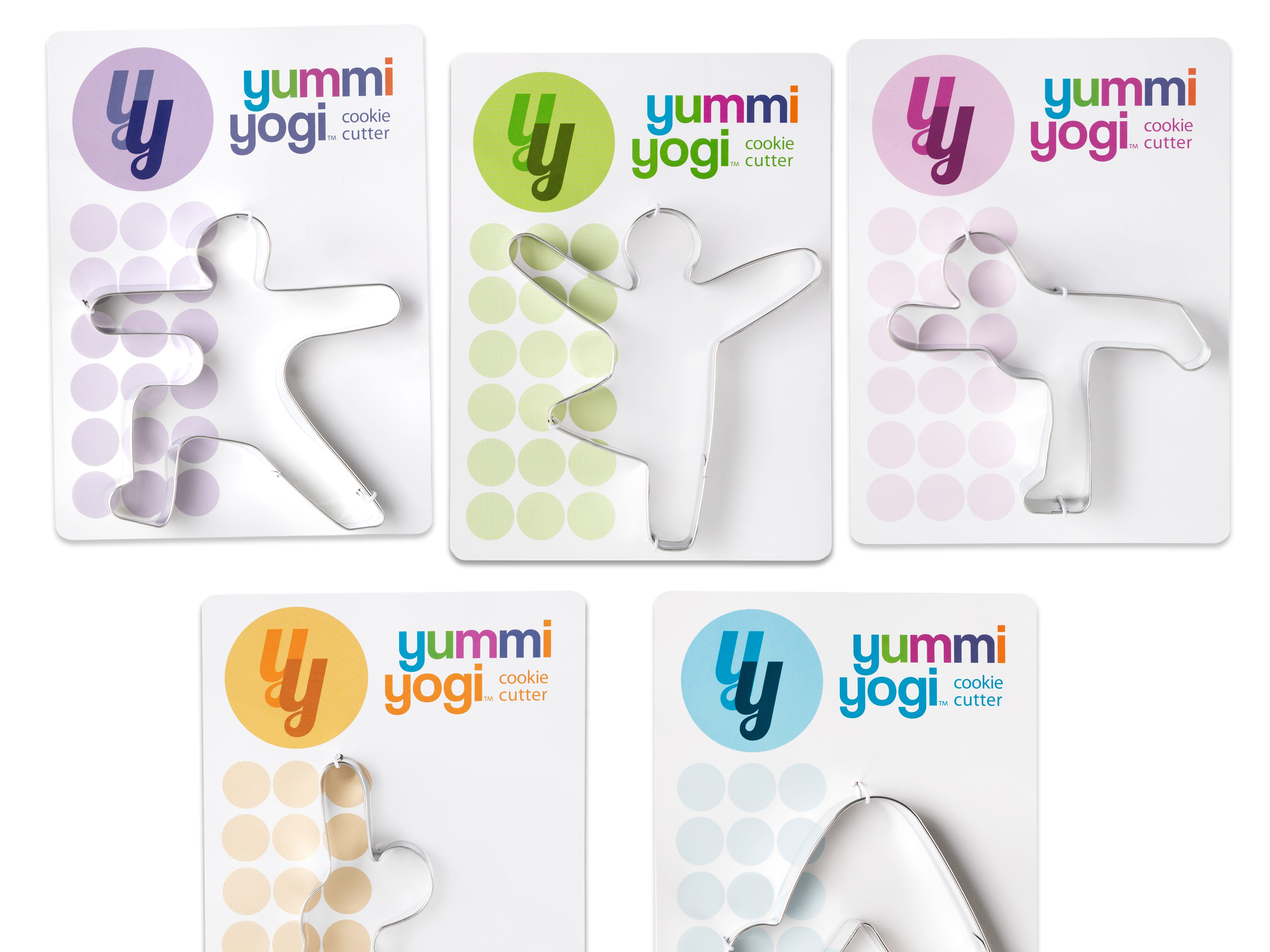 A collection of yoga-inspired cookie cutters from Yummi Yogi.