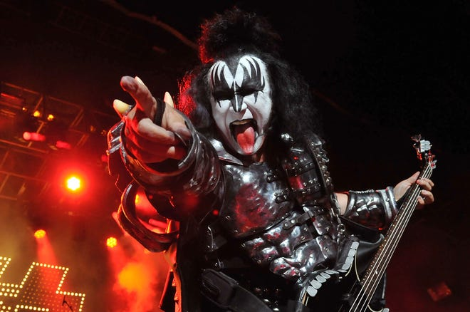 Gene Simmons of Kiss performs at The Kentish Town Forum on July 4, 2012 in London, England.