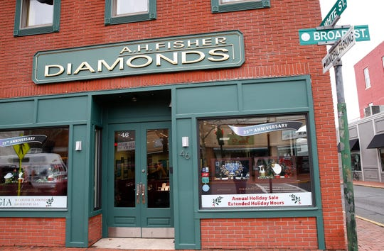 Exterior of A.H. Fisher Diamonds store in Red Bank Monday, November 26, 2018.
