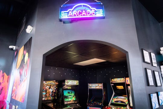 A small arcade inside Galactic Pizza on Sardis Road in Candler.