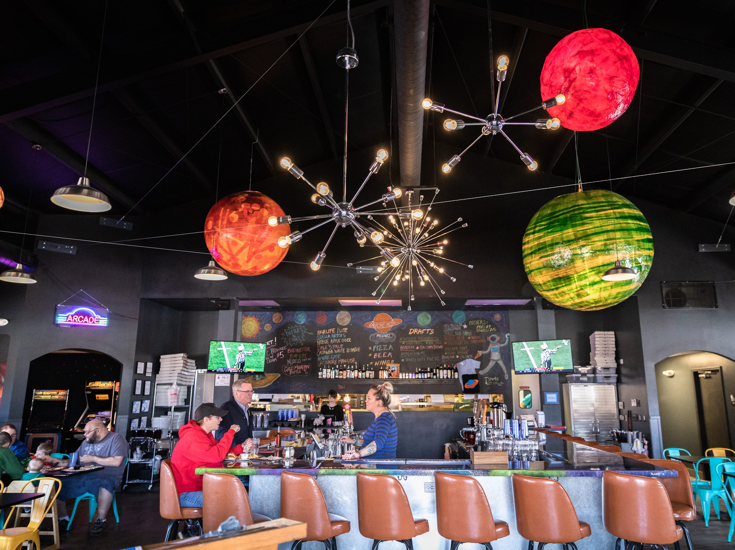 Galactic Pizza on Sardis Road in Candler.