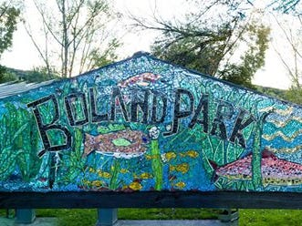 Binghamton based Jablon Studios collaborated with Broome-Tioga Boces, Broome County Work Force and the Village of Johnson City to create a mosaic in Boland Park. The mosaic was unveiled on Nov. 10.