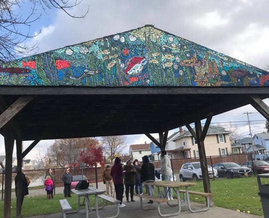 Jablon Studio's latest mosaic in Johnson City's Boland Park marks the studio's first in Johnson City.
