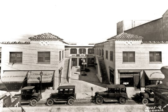 A shot of Belair Courtyard from the 1920s.