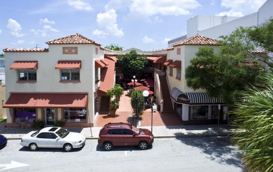 A recent shot of Belar Courtyard in Cocoa Village.