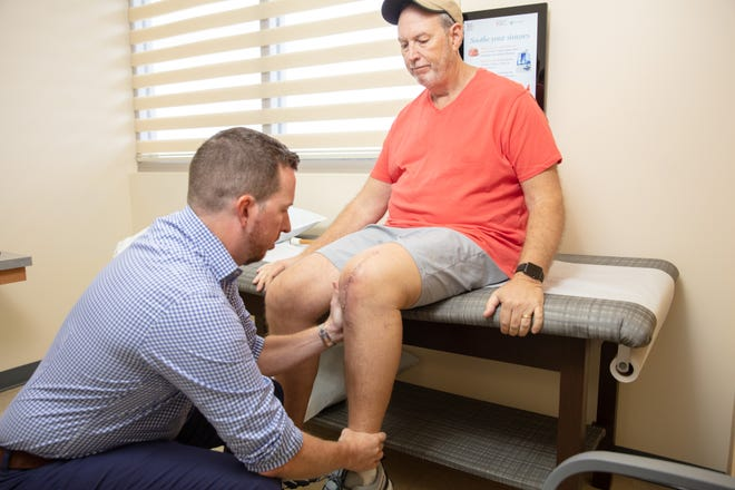 Dale Adamson recently had a knee replacement, and he was able to go home that day.