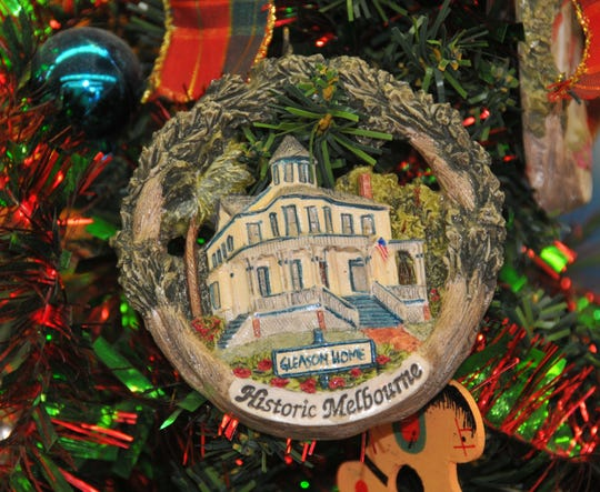 The Gleason home ornament is a former featured ornament from the Zonta collection.